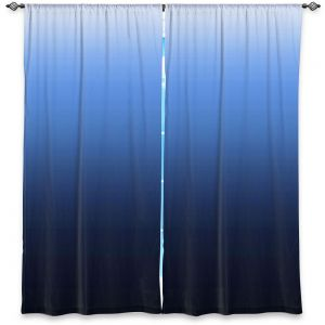 Decorative Window Treatments | Susie Kunzelman - Ombre Midnight | Ombre Monochromatic