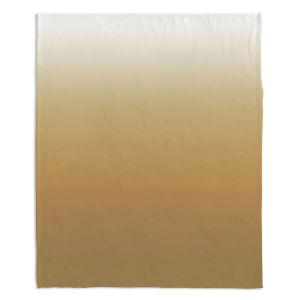 Decorative Fleece Throw Blankets | Susie Kunzelman - Ombre Neutral Beige