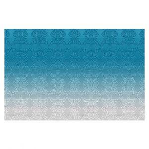 Decorative Floor Coverings | Susie Kunzelman - Ombre Pattern l Aqua
