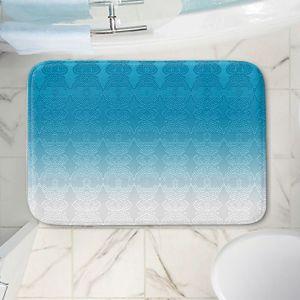 Decorative Bathroom Mats   Susie Kunzelman - Ombre Pattern l Aqua