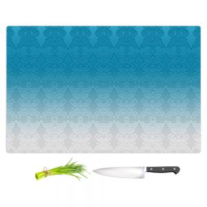 Artistic Kitchen Bar Cutting Boards | Susie Kunzelman - Ombre Pattern l Aqua