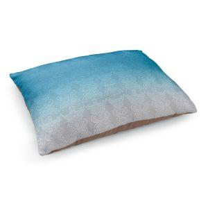 Decorative Dog Pet Beds | Susie Kunzelman - Ombre Pattern l Aqua