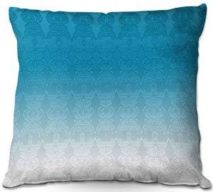 Decorative Outdoor Patio Pillow Cushion | Susie Kunzelman - Ombre Pattern l Aqua