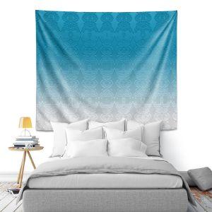 Artistic Wall Tapestry | Susie Kunzelman - Ombre Pattern l Aqua