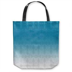 Unique Shoulder Bag Tote Bags |Susie Kunzelman - Ombre Pattern l Aqua