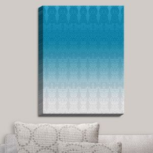 Decorative Canvas Wall Art | Susie Kunzelman - Ombre Pattern I Aqua | Ombre Pattern