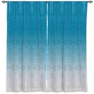 Decorative Window Treatments | Susie Kunzelman - Ombre Pattern l Aqua