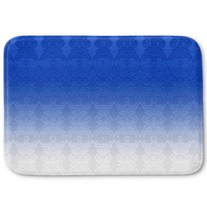 Decorative Bathroom Mats | Susie Kunzelman - Ombre Pattern l Blue