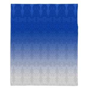 Decorative Fleece Throw Blankets | Susie Kunzelman - Ombre Pattern l Blue