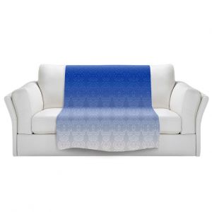 Artistic Sherpa Pile Blankets   Susie Kunzelman - Ombre Pattern l Blue