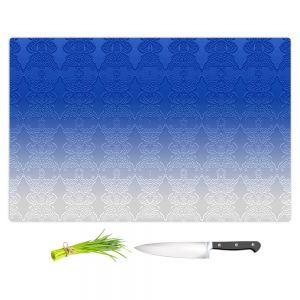 Artistic Kitchen Bar Cutting Boards | Susie Kunzelman - Ombre Pattern l Blue