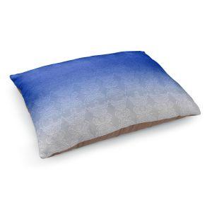 Decorative Dog Pet Beds | Susie Kunzelman - Ombre Pattern l Blue