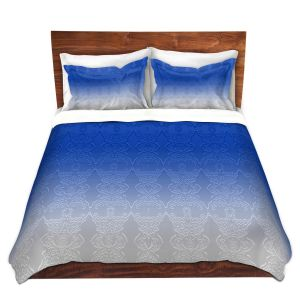 Artistic Duvet Covers and Shams Bedding | Susie Kunzelman - Ombre Pattern l Blue