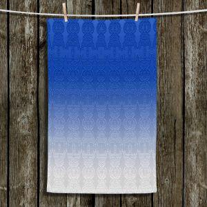 Unique Hanging Tea Towels | Susie Kunzelman - Ombre Pattern l Blue | Ombre Pattern