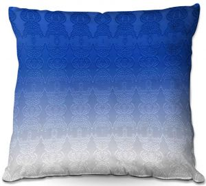Decorative Outdoor Patio Pillow Cushion | Susie Kunzelman - Ombre Pattern l Blue