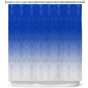 Premium Shower Curtains | Susie Kunzelman - Ombre Pattern l Blue