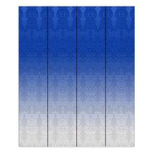 Decorative Wood Plank Wall Art  Susie Kunzelman - Ombre Pattern l Blue