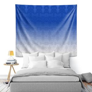 Artistic Wall Tapestry | Susie Kunzelman - Ombre Pattern l Blue