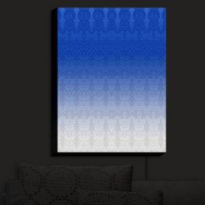 Nightlight Sconce Canvas Light | Susie Kunzelman - Ombre Pattern I Blue | Ombre Pattern