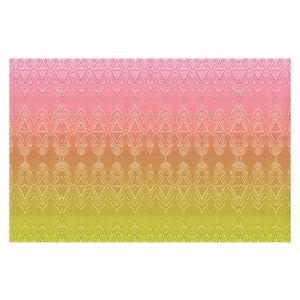 Decorative Floor Coverings | Susie Kunzelman - Ombre Pattern ll Peach Pink