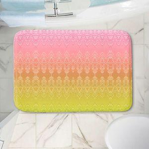 Decorative Bathroom Mats   Susie Kunzelman - Ombre Pattern ll Peach Pink