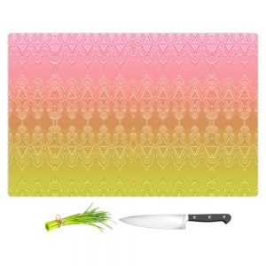 Artistic Kitchen Bar Cutting Boards | Susie Kunzelman - Ombre Pattern ll Peach Pink