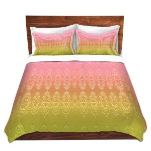 Artistic Duvet Covers and Shams Bedding | Susie Kunzelman - Ombre Pattern ll Peach Pink