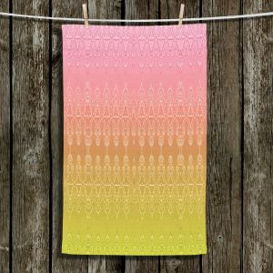Unique Hanging Tea Towels | Susie Kunzelman - Ombre Pattern ll Peach Pink | Ombre Pattern