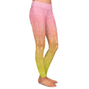 Casual Comfortable Leggings | Susie Kunzelman - Ombre Pattern ll Peach Pink