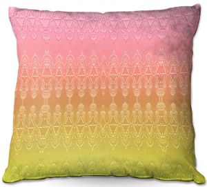 Decorative Outdoor Patio Pillow Cushion | Susie Kunzelman - Ombre Pattern ll Peach Pink