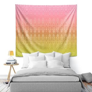 Artistic Wall Tapestry | Susie Kunzelman - Ombre Pattern ll Peach Pink