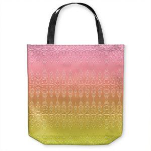 Unique Shoulder Bag Tote Bags |Susie Kunzelman - Ombre Pattern ll Peach Pink