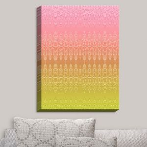 Decorative Canvas Wall Art | Susie Kunzelman - Ombre Pattern II Peach Pink | Ombre Pattern