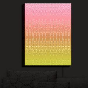 Nightlight Sconce Canvas Light | Susie Kunzelman - Ombre Pattern II Peach Pink | Ombre Pattern