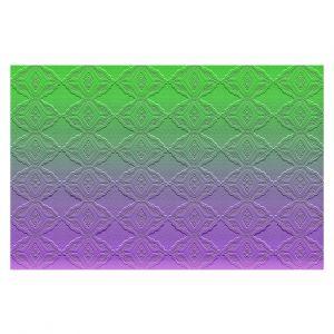 Decorative Floor Coverings | Susie Kunzelman - Ombre Pattern lll Purple Green