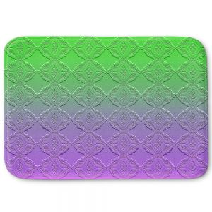 Decorative Bathroom Mats | Susie Kunzelman - Ombre Pattern lll Purple Green