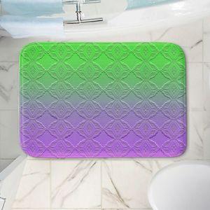 Decorative Bathroom Mats   Susie Kunzelman - Ombre Pattern lll Purple Green