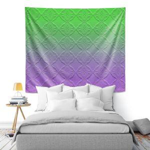 Artistic Wall Tapestry | Susie Kunzelman - Ombre Pattern lll Purple Green