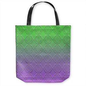 Unique Shoulder Bag Tote Bags |Susie Kunzelman - Ombre Pattern lll Purple Green