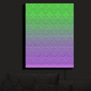 Nightlight Sconce Canvas Light | Susie Kunzelman - Ombre Pattern III Purple Green | Ombre Pattern