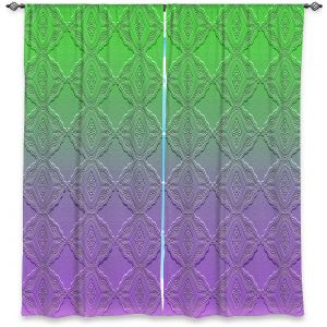 Decorative Window Treatments   Susie Kunzelman - Ombre Pattern lll Purple Green