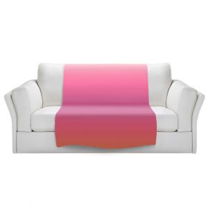 Artistic Sherpa Pile Blankets   Susie Kunzelman - Ombre Peachy Pink   Ombre Monochromatic
