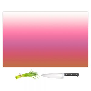 Artistic Kitchen Bar Cutting Boards | Susie Kunzelman - Ombre Peachy Pink | Ombre Monochromatic
