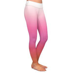 Casual Comfortable Leggings | Susie Kunzelman - Ombre Peachy Pink | Ombre Monochromatic