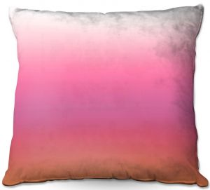 Decorative Outdoor Patio Pillow Cushion | Susie Kunzelman - Ombre Peachy Pink | Ombre Monochromatic