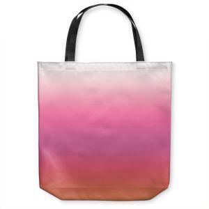 Unique Shoulder Bag Tote Bags | Susie Kunzelman - Ombre Peachy Pink | Ombre Monochromatic