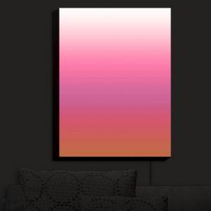 Nightlight Sconce Canvas Light | Susie Kunzelman - Ombre Peachy Pink
