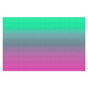 Decorative Floor Coverings | Susie Kunzelman - Ombre Pink Green