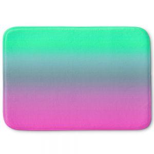 Decorative Bathroom Mats | Susie Kunzelman - Ombre Pink Green