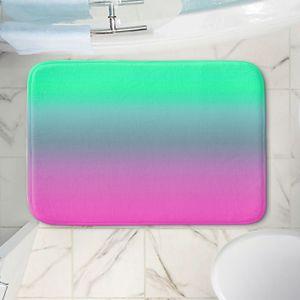 Decorative Bathroom Mats   Susie Kunzelman - Ombre Pink Green